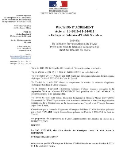 document administratif, DIRECCTE PACA