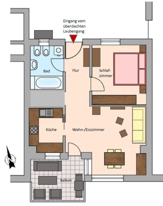 gr e und grundriss fewo waldeggs webseite. Black Bedroom Furniture Sets. Home Design Ideas
