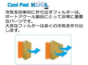 ポートアクール冷風機の特徴portacool