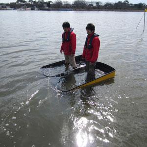 防災救助カプセルボート浮沈構造