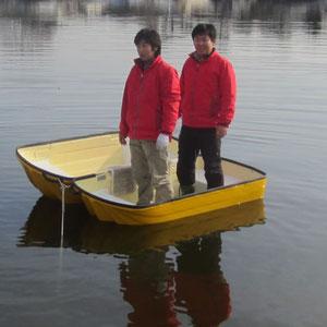 防災救助カプセルボート安定性