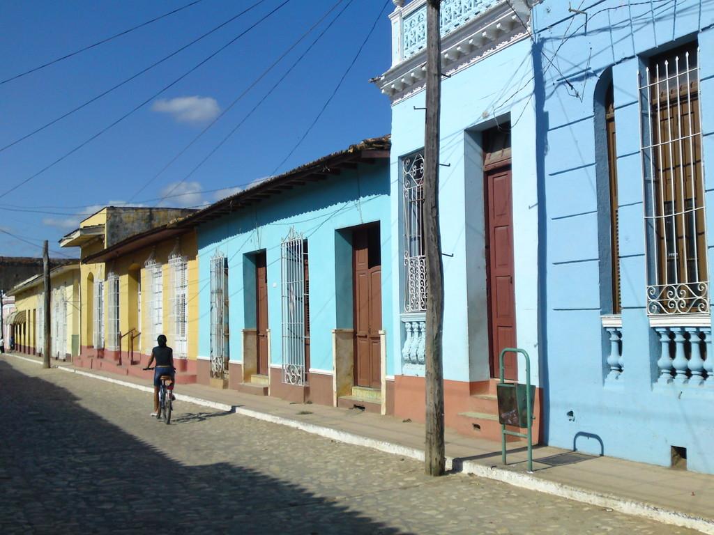 Häuserzeile in Trinidad