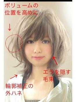 ベース型 似合う髪型 ショート エラ ボリューム 京都 calonhair