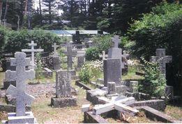 軽井沢の外人墓地