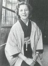昭和40年頃自宅でのスナップ 当時から和服の着付けは自分でできた