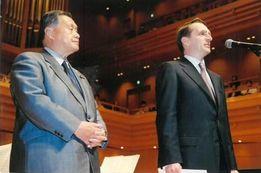 2006年フェスティバルオープニングセレモニー ナルイシキン大統領府長官と森喜朗元首相