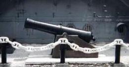横須賀市の三笠公園に展示されている砲