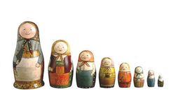セルギエフ・ポサードの玩具博物館所蔵の古いマトリョーシカ