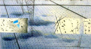 Layered Landscape(ノート・水田) W500×D270㎜ ミクストメディア 2013年