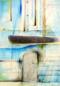 Layered Landscape -アトミックタウン- W364×D515㎜ ミクストメディア 2015年