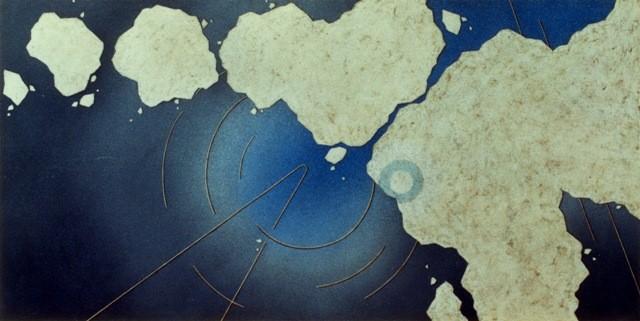 series 「origin」-雨の儀式 900×1800㎜ 油彩 1987年