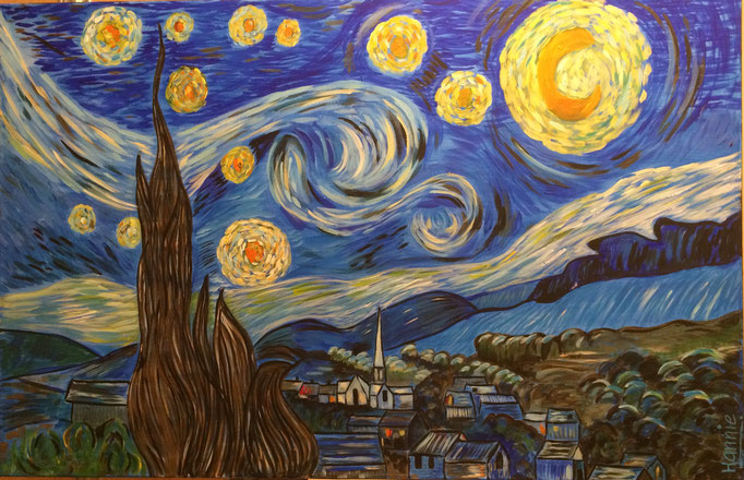Starry Starry Night van Vincent van Gogh  100 x 70