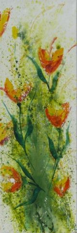 Frühlingserwachen II,  40 x 120 Acryl 2012