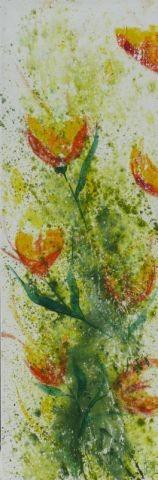 Frühlingserwachen I, 40 x 120, Acryl 2012