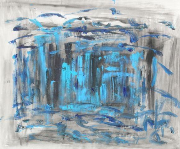 Ankommen, 120 x 100, Acryl 2012