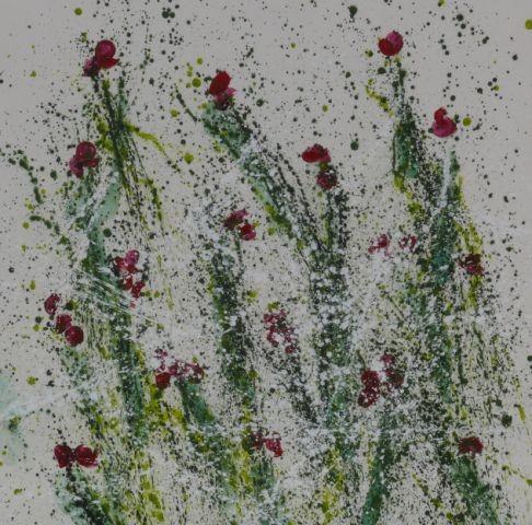 Wiese, 100 x100, Acryl 2012