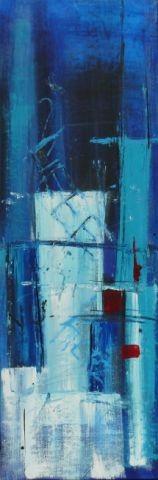 Emotion in blau I, 40 x 120, Acryl 2012