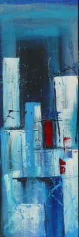 Emotion in blau II, 40 x 120, Acryl 2012