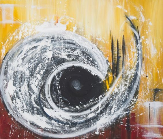 Tiefe, 100 x100, Acryl 2012