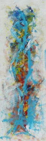 Ein Blick, 40 x 120, Acryl 2012