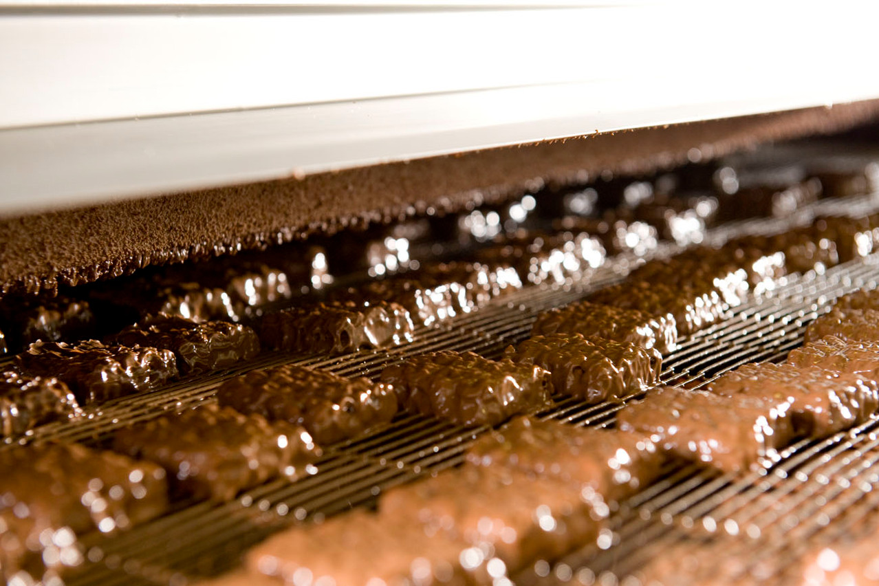 Die Happen haben nun einen schokoladigen Überzug.