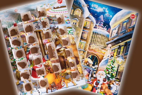 The advent calendar can now be sent all around the world. Rübezahl sells more than 30 million advent calendars each year.