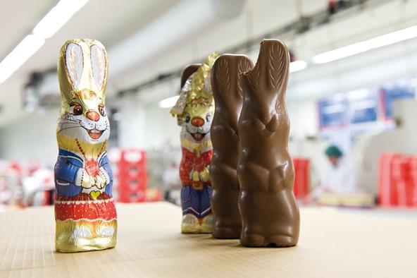 Mehr als 50 Länder beliefert Rübezahl mit seinen rund 50 Mio. Schokoladenhasen. Tendenz steigend!