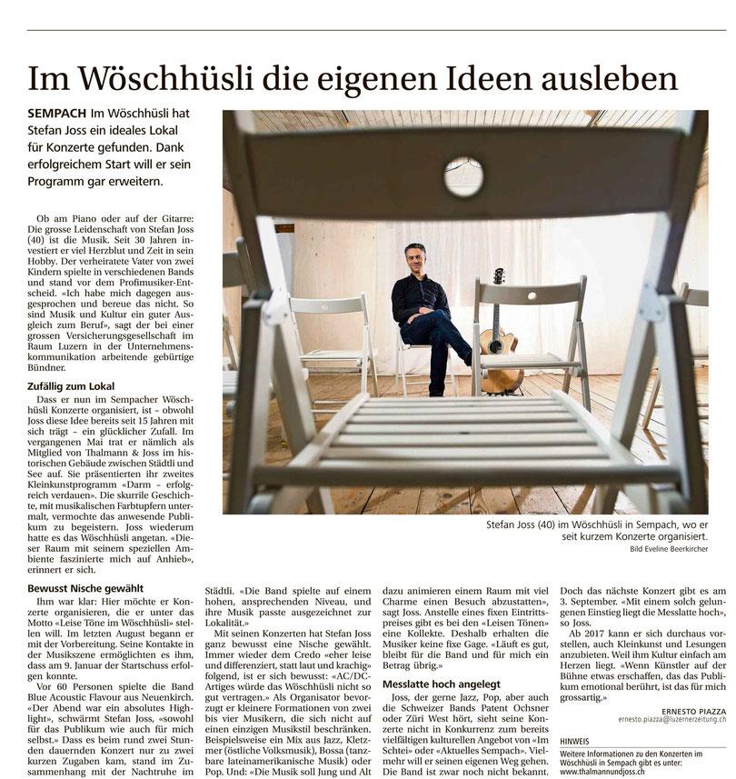 12. Februar 2016: Luzerner Zeitung