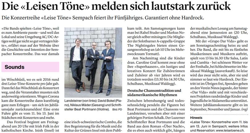 10. Juni 2021: Luzerner Zeitung