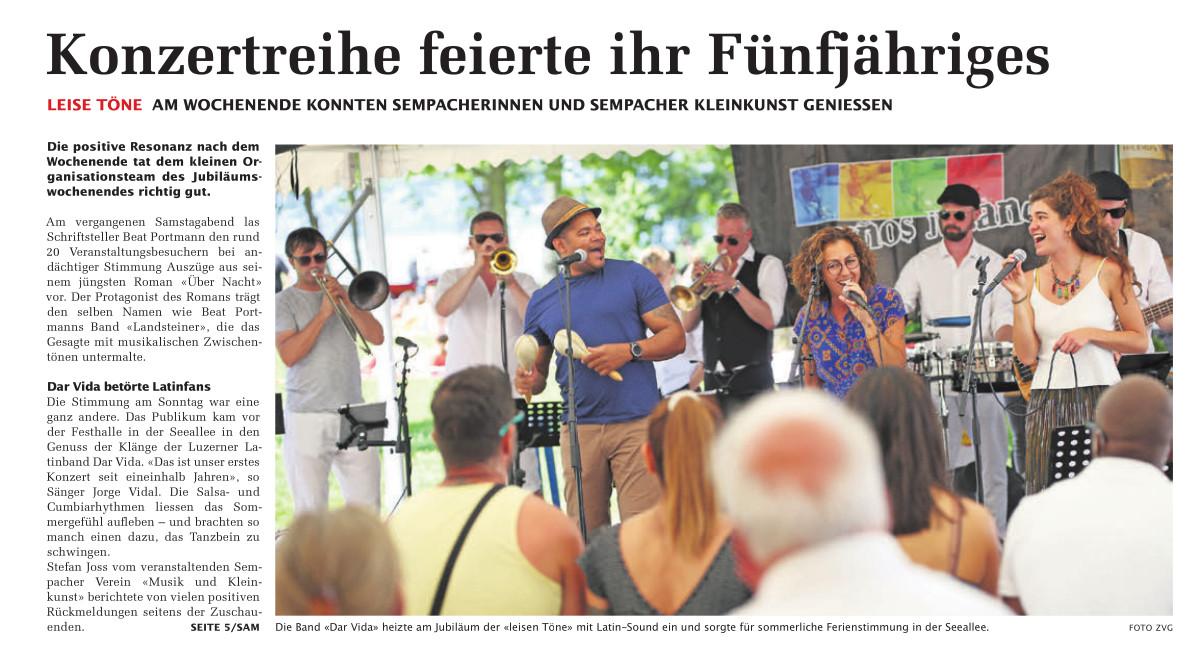 17. Juni 2021: SempacherWoche Rückblick (Titelseite)