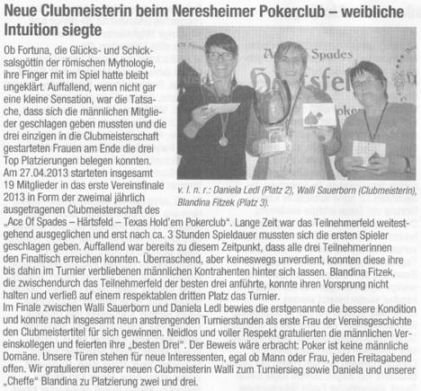 Neresheimer Nachrichtenblatt vom 03. Mai 2013