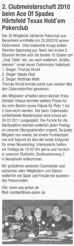 Neresheimer Nachrichtenblatt vom 01.10.2010