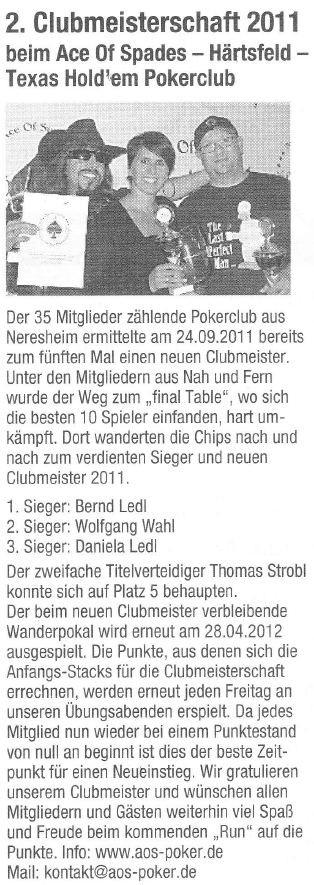Neresheimer Nachrichtenblatt vom 30.09.2011