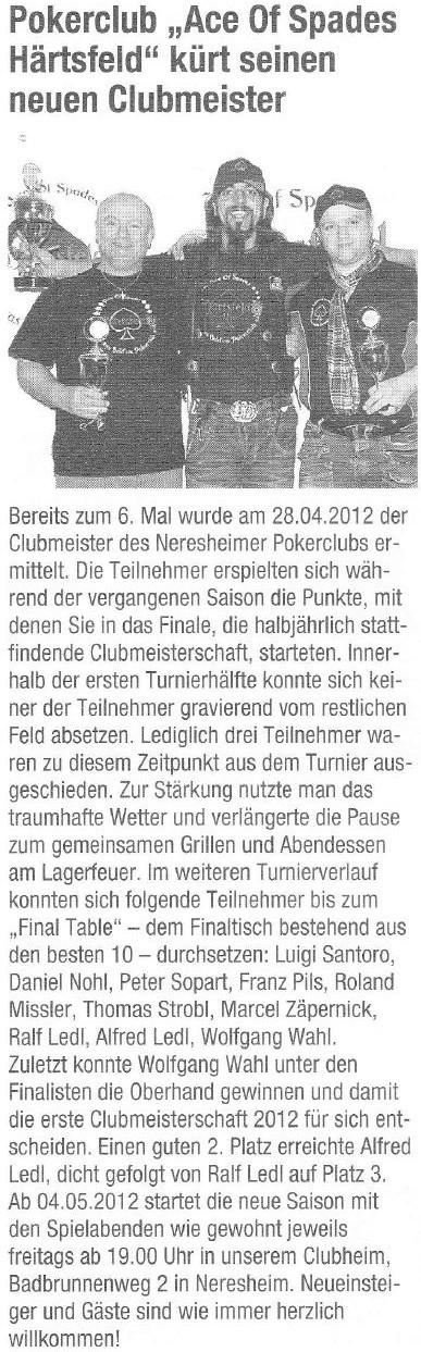 Neresheimer Nachrichtenblatt vom 04.05.2012