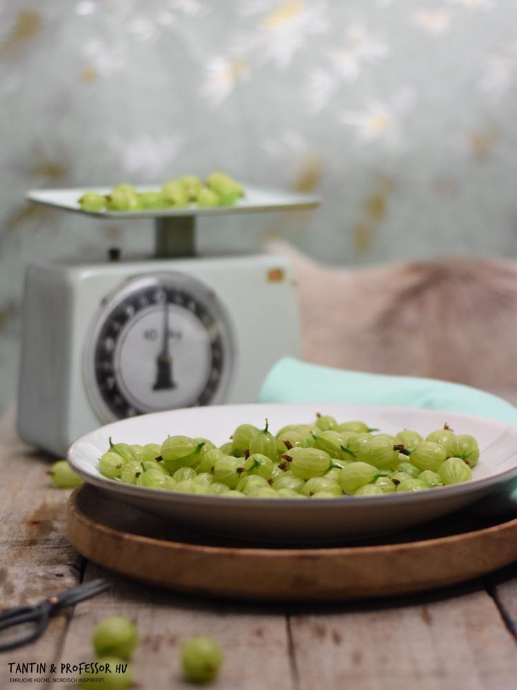 Grüne Stachelbeertarte mit Olivenöl