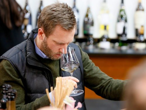 Tasting wines at ProWein