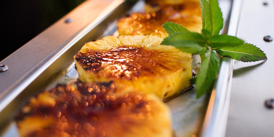 Der  Steaker hat einen eigenen Garbereich den man kreativ für Nachspeisen nutzen kann.