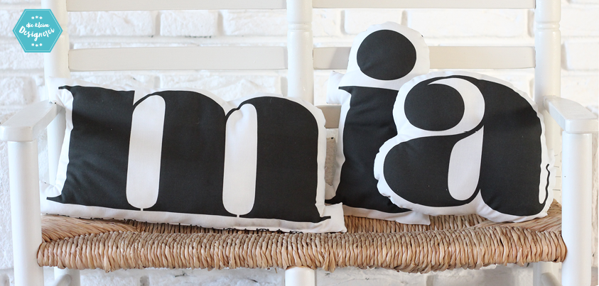 Bild: Nähpaket Buchstaben-Kissen