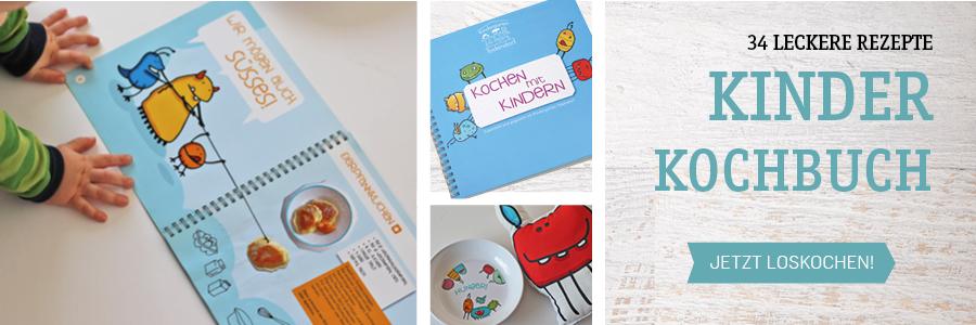 Kinderkochbuch mit Monstern aus dem Kindergarten Todendorf, 34 Rezepte mit Ringbindung und Schutzumschlag, kaufen über www.die-kleine-designerei.com