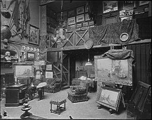 Son atelier.