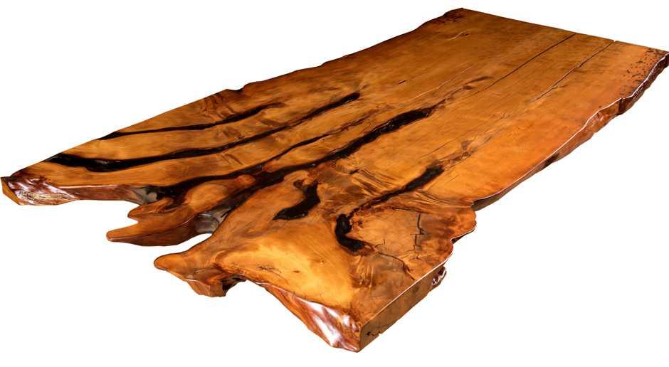 Langer Sumpf Kauri Holztisch, großer Baumstammtisch aus Wurzel Stamm, unvergleichlicher Wurzeltisch Neuseeland, besonderer Konferenztisch aus Naturholz
