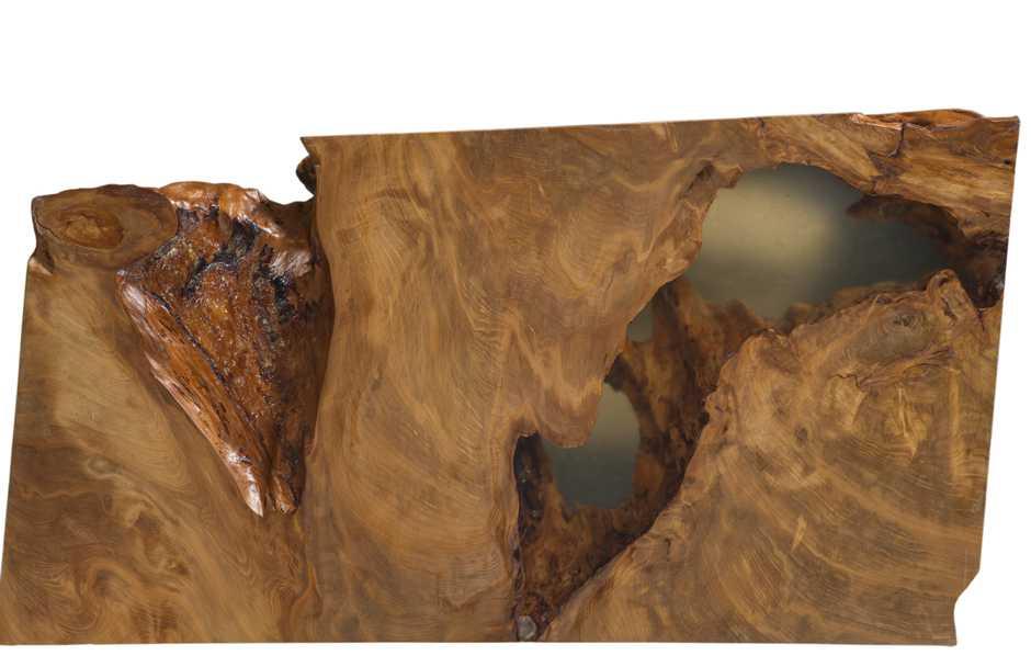 Kauri Holz Skulptur - Natur Kunstwerk aus Holz, exklusive Holzkunst aus Kauri Wurzel, Couchtisch, außergewöhnliche Kunstobjekte Holztisch und Esstisch
