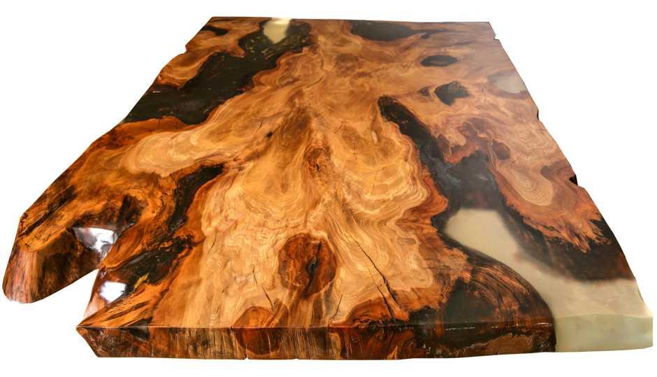 Wertvoller Kauri Wurzel Holztisch als langfristige Wertanlage mit Alterszertifikat, exklusiver Esstisch Wurzeltisch ein Stück Holz, einzigatiges Kunst Unikatmöbel und Naturholztisch