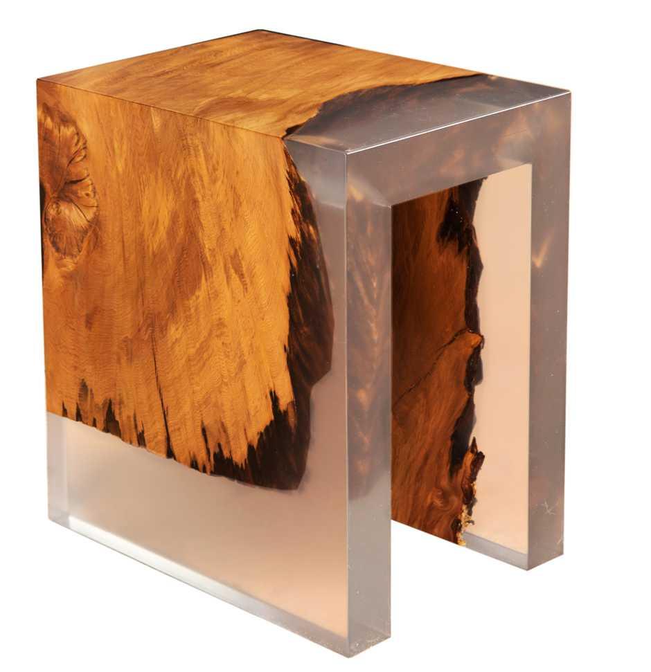 Individuelles Möbeldesign, Unikat Kauri Wurzelhocker handgefertigt, unvergleichliche Designmöbel Designtische, exklusive Massivholztische und Luxustische