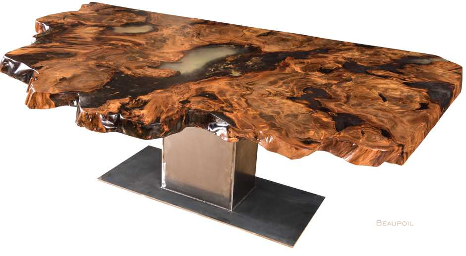 Individueller Wohnzimmertisch mit Baumkanten, exklusive Unikat Inneneinrichtung, langlebige Esstische Holztische handgefertigt, wunderschöner Tisch