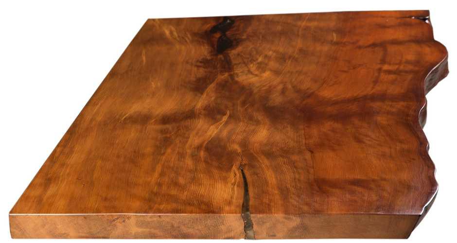 Kunstvolle massive Kauri Tischplatte vom Besprechungstisch Konferenztisch an einem Stück mit Baumkante, außergewöhnliche Designertische mit Hauch Luxus