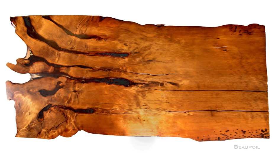 Unverleimter Baumtisch mit Wurzel Stamm Tischplatte, großer Naturholztisch, langer Luxus Konferenztisch, Unikat Holztisch mit Naturkanten, Naturkunst