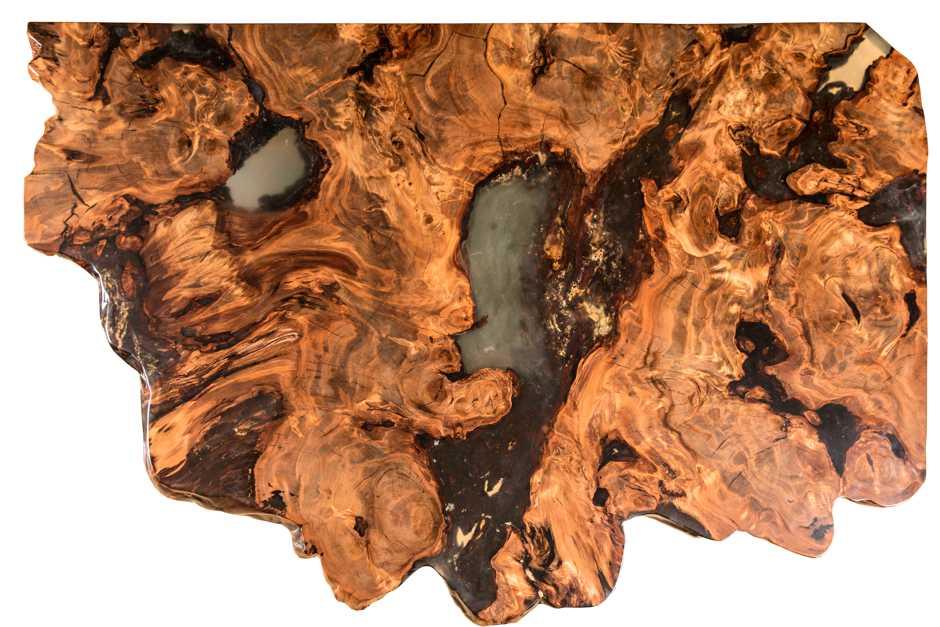 Unverwechselbarer Kauri Wohnzimmertisch, moderne Inneneinrichtung, Wurzeltisch ein Stück Holz, Einzelstück Designer Esstisch, außergewöhnliches Kunstwerk Naturholztisch