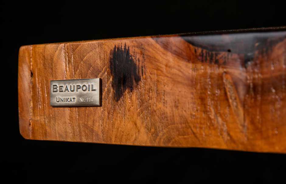 Michael Beaupoil Holztisch Unikate, einzigartige Möbel und Tischunikate mit Siegel, Original Beaupoil Massivholztische und Esstische aus außergewöhnlichen Kauri Wurzelhölzern