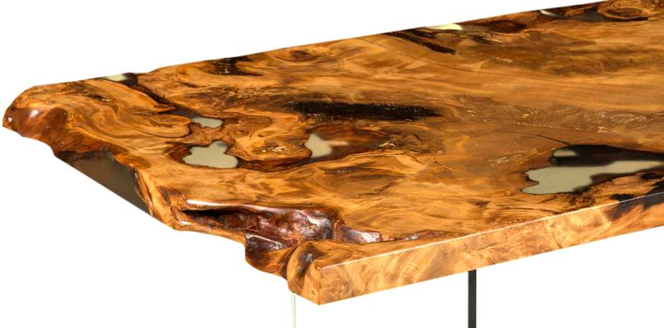 Exclusive Kauri root desk top with beauty and unusual aesthetics, unique wood table art of nature, special handmade work, exclusiv unique wood table and dining table